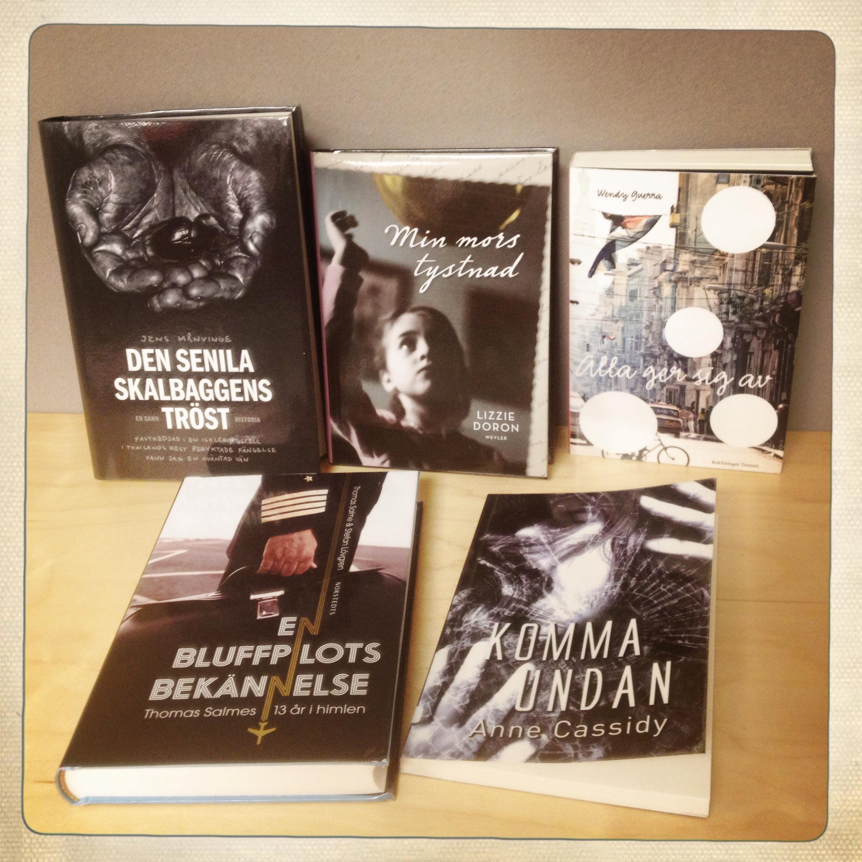 Bild på några nya böcker
